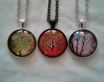 colorful tree of life necklace
