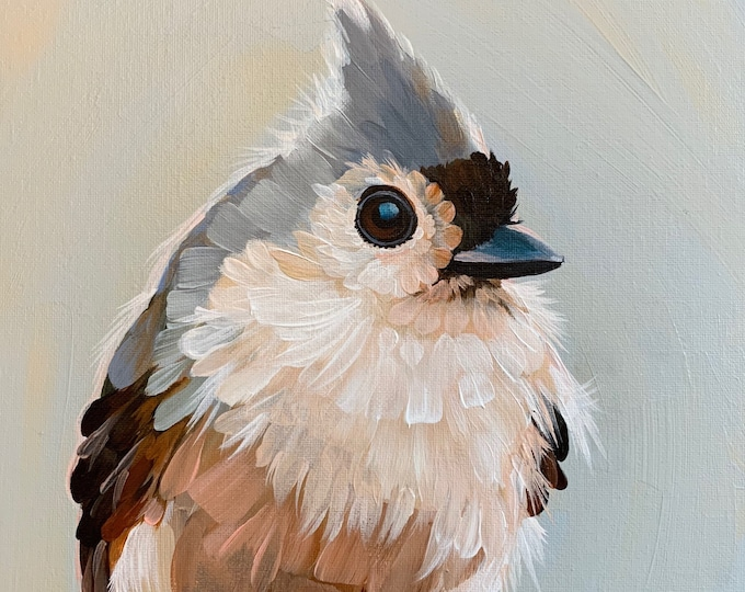 Limited Edition Print Mac Tufted Titmouse