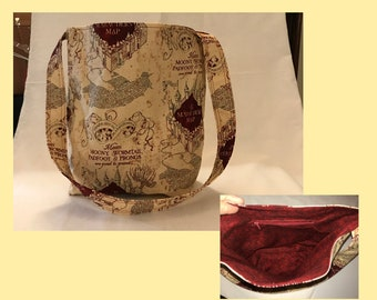 Marauder's Map tote/shoulder bag