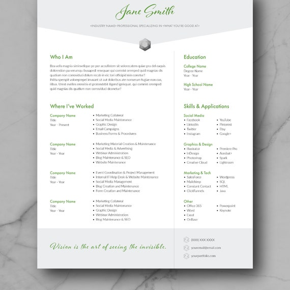 Resume Template, CV Template, Adobe InDesign, CV Design, Marketing,  Creative, Graphic Design Resume Template, Modern, Instant Download