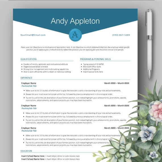 Modern Professional Monogram Resume Template for Microsoft Word With on motivation to write a paper, motivation statement for a job, motivation for work, academic transcript template, motivation to win, thank you note template, motivation at work, statement of purpose template, statement of interest template, motivation for friday, motivation phone sales,
