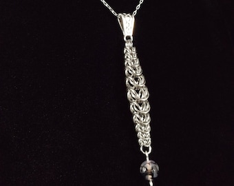 Stainless Steel Box Chainmaille Pendant