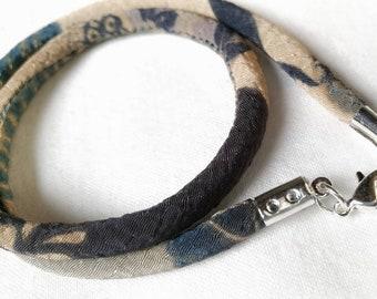 Japanese kimono chirimen bracelet NAVY