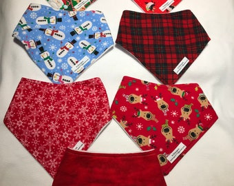 Children's aged 3 plus Christmas Bandana Bibs