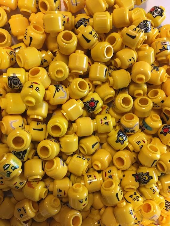 50 NEW LEGO MINIFIG HEADS random lot of minifigure heads male female ninjago