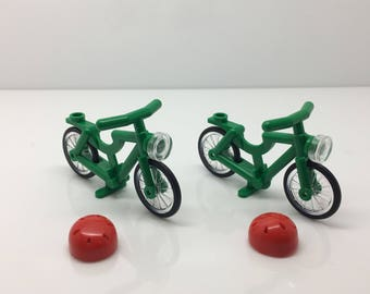 Lego lot of Minifigure Bicycle Bikes Accessories With helmets FREE US SHIPPING