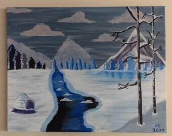 Winter Scene Canvas Painting