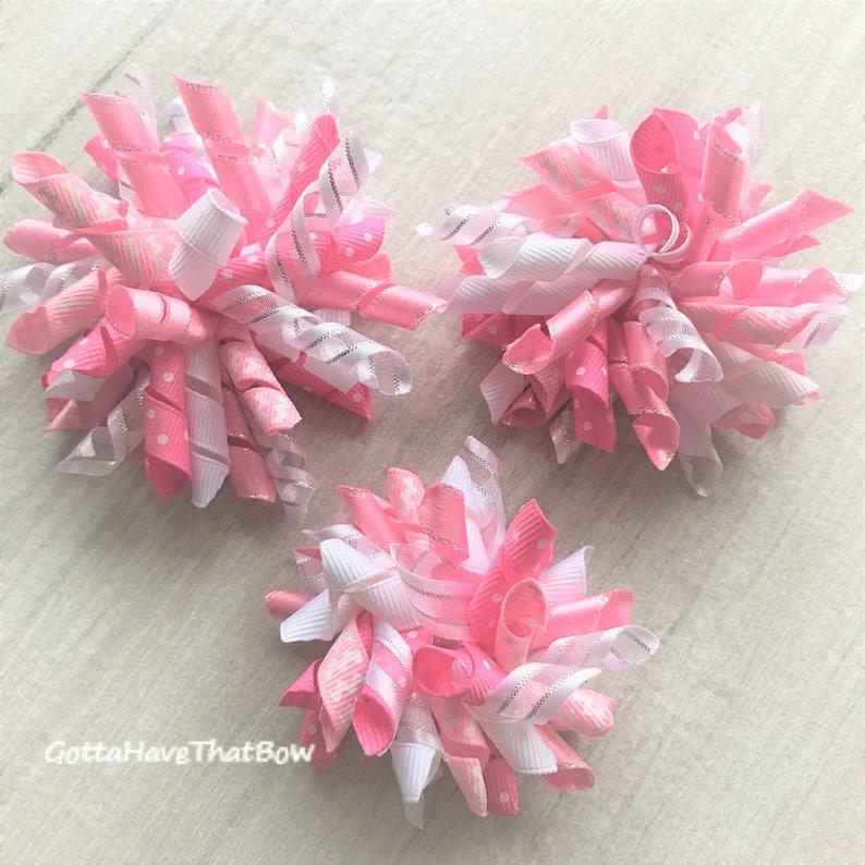 c2e13779dcd56 Korker Bows Pink Baby Girl Hair Bow Little Girl Bow Flip