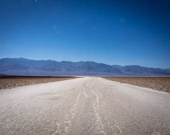 Salt Flats at Badwater Basin in Death Valley