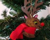 Rudolph ornament, bulk deer ornaments, bulk wood ornaments, christmas ornament, deer ornament, bulk rudolph ornaments, wood deer