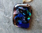 Blue Dichoric Pendant with chain