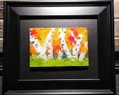 Fused Glass Wall Art, Nature Art, Glass Art, Kilnformed Art, Birch Trees, Framed Glass Art, Glass Panel, Handmade glass art