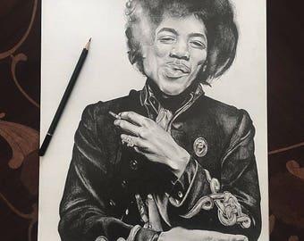 Custom Hand Drawn Pencil Portrait Drawing A3