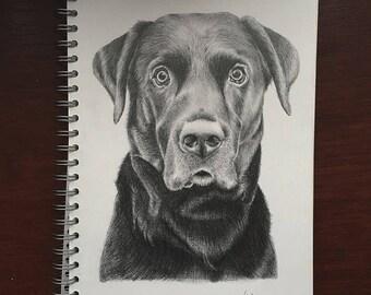 Custom Hand Drawn Pencil Pet Portrait Drawing A5