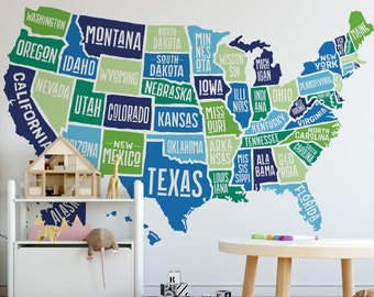 United States Map Wall Decor.Map Wall Decor Etsy