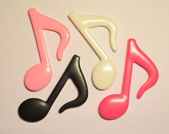 55mm XL Music Eighth Note Flat Back Cabochon for Cellphones, Embellishment, Crafts, Scrapbooking