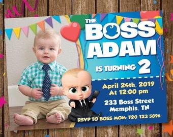 The Boss Baby Invite Etsy