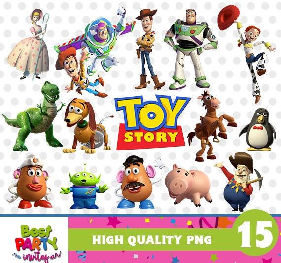 Toy Story Clipart Files Toy Story Png Files Toy Story High Etsy