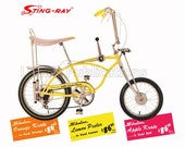 Schwinn Sting-Ray Bike Vintage Advertising Poster