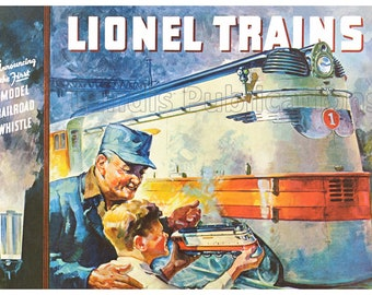 New Lionel Trains Tin Poster Metal Sign Vintage Ad Style Train Set Toy Store