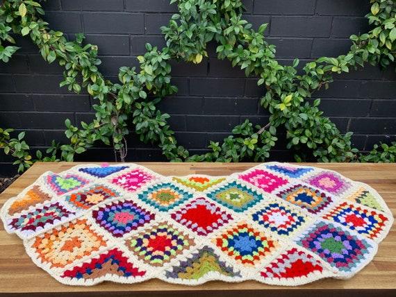 Vintage Square Crochet Cape ~ Wrap ~ Poncho ~ Boh… - image 7