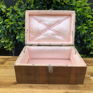 Vintage wooden box french provincial display jewellery box Aspinall/'s Neigeline