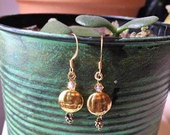 Gold Wire-wrapped Earrings