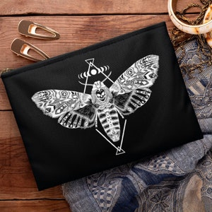 Moth Tarot Card Case ANY SIZE Purple Butterfly Tarot Bag Large Tarot Card Bag Tarot Pouch Insect Oracle Bag Moon Phase Tarot Case