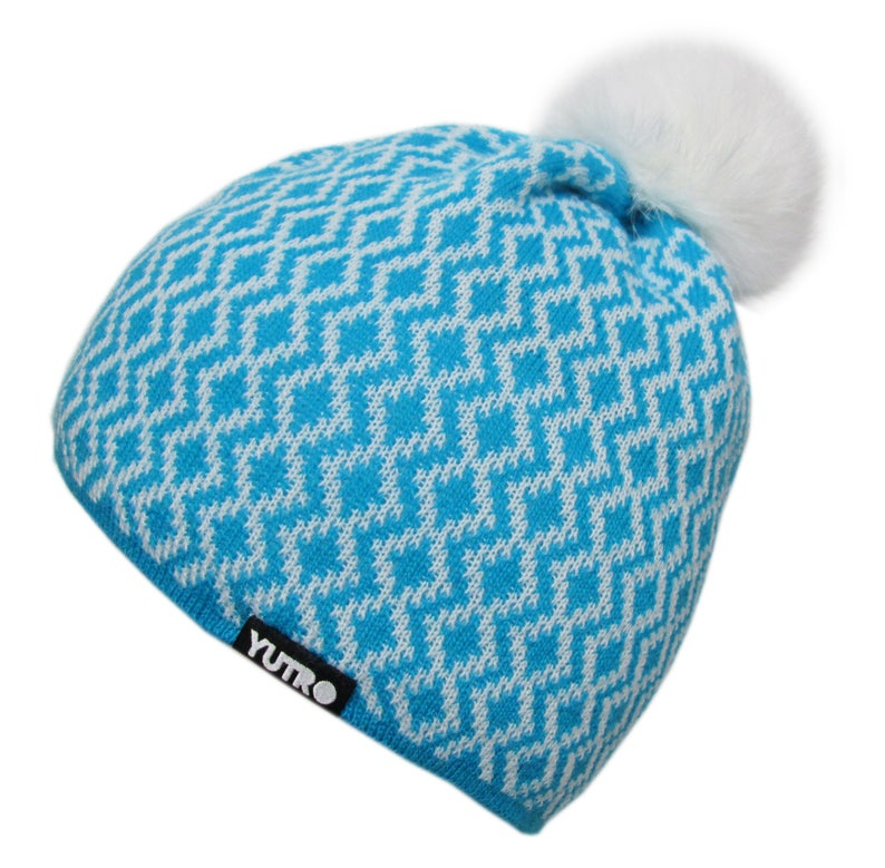 110f44461 Women's Wool Thinsulate Fleece Lined Band Ski Beanie Winter Hat With Rabbit  Pom