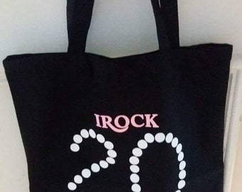 I Rock 20 Pearls Black Tote