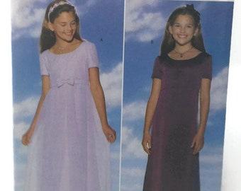 Girls Dress Pattern, Butterick 5383, Formal Dress Pattern, Girls Size 12-14, Uncut Sewing Pattern, Easy