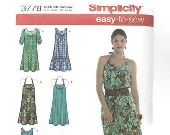 Womens Dress/Tunic Pattern, Simplicity 3778, Women's Sizes 20-28, Uncut Sewing Pattern