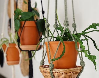 ANDREA. Jardinière suspendue, macramé, macramé suspendu, suspension plante,suspension boho, fait au québec,