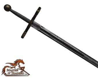 Large Black EXCALIBUR Wooden 2 Handed Sword for Children/Kids Hand Crafted Toy