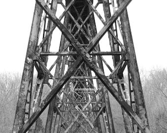 Railroad / Railroad Tracks / Pope Lick Trestle / Photo / Print / Art /Decor / Photograph / Kentucky / Louisville and Indiana Railroad