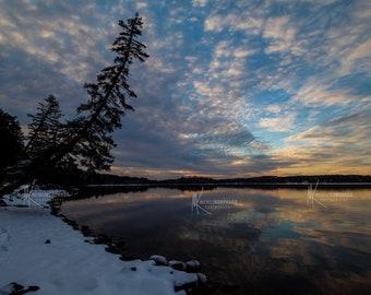 Gunflint Lake / Minnesota / Canada / Photo / Wall Art / Home Decor / Gunflint Lodge / Lake Superior / Snow / Print / Gunflint Trail