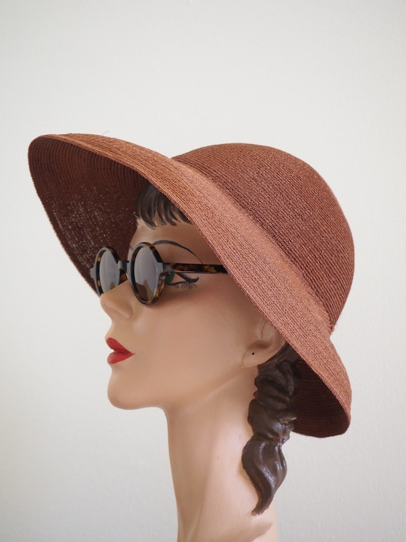 Deadstock 1940s Straw Summer Halo Hat | With Orig… - image 3