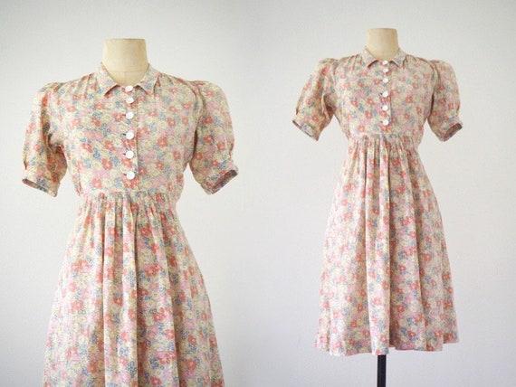 Meadow 1930s Dream Summer Dress | Puffed Sleeves a