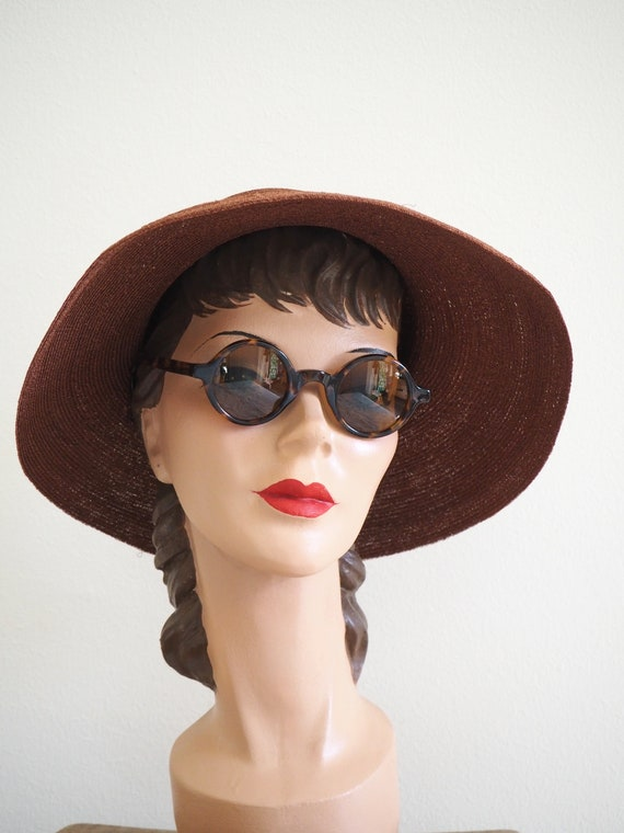 Deadstock 1940s Straw Summer Halo Hat | With Orig… - image 2