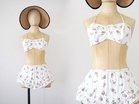 Roses High Waist Halterneck Bikini 1940s to 1950s