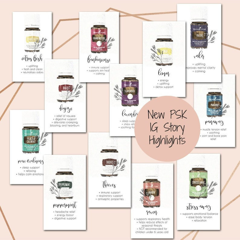Essential Oil Instagram Story Template, Oil Marketing, Template for  Instagram stories, Social Media Icons, Oil Marketing, Young Living