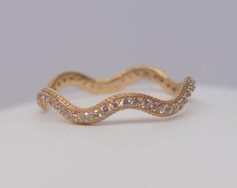 Rose Gold 14k Ring Romance Waives
