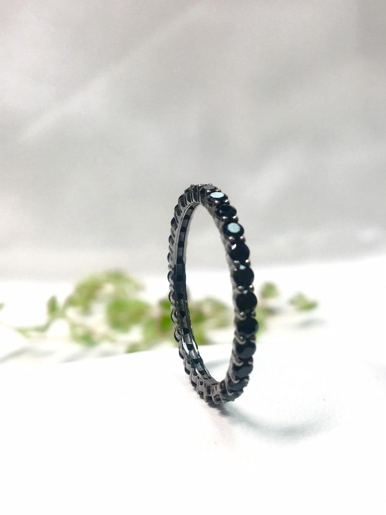 Black Gold 14k Multistone Band Ring - Anillo de Oro Negro 14k Banda
