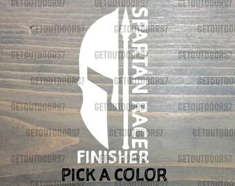 Spartan Race Sticker Decal Finisher Sprint Beast Super Trifecta Come   Take  It Display Medal Holder Rack Window Laptop Helmet 579abce678d1