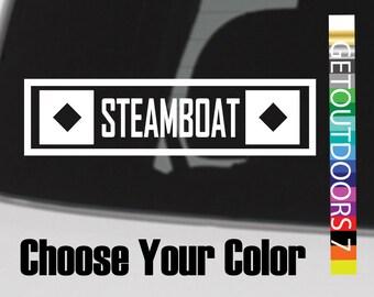 Steamboat Sticker Decal Springs Colorado Ski Mountain Snowboard Telluride XO