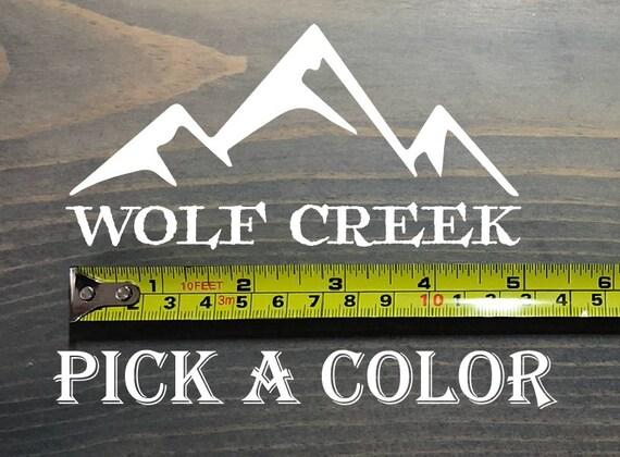 Wolf Creek autocollant Colorado Ski Snowboard autocollant Ski Resort Beaver milieu hiver parc Vail cuivre Aspen Snowmass babeurre Highlands Loon
