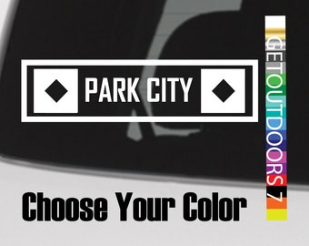 Park City Sticker Decal Mountains Ski Resort DIE CUT Vinyl Utah Deer Valley Snowbird Alta Beaver Mountain Solitude Snowboard Brighton