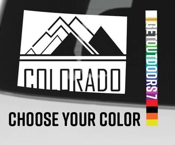 "Colorado autocollant Decal 4"" montagnes 14 14ers Ski Resort DIE CUT vinyle Vail Breckenridge Beaver Creek Copper Mountain Maroon Bells Rocky"