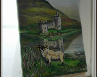 acrylic on canvas, Scottish Highlands