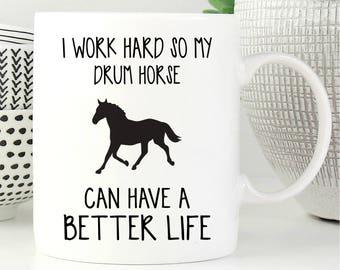 Horse Mug, Drum Horse Gift, Drum Horse Coffee Mug, Drum Horse Gifts, Coffee Mug, Drum Horse Lover Gift, Gift For Drum Horse Lover